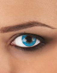 Lentes fantasia olho azul adulto