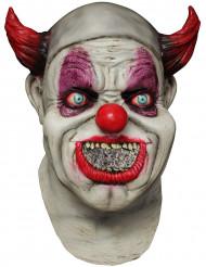 Máscara integral palhaço animado adulto