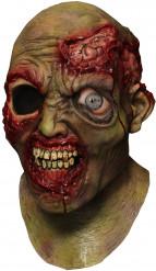 Máscara integral zombie zarolho animado adulto