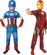Dois disfarces Captain America™ e Iron Man™ menino