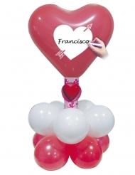 Kit balões vermelhos e brancos personalisavel