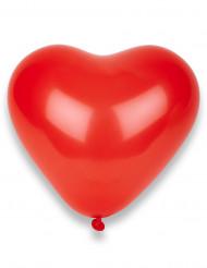 100 balões coração vermelho 32cm