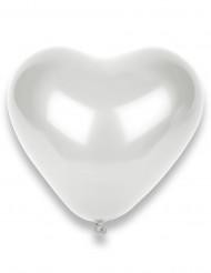 50 balões coração brancos 32cm