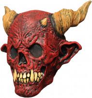Máscara caveira da morte vermelho