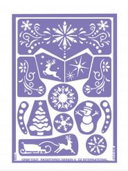 Stencil de maquilhagem reutilizável Princesa do gelo Grim Tout