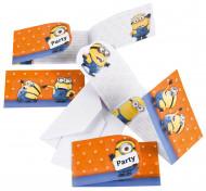 6 convites e envelopes Minions™