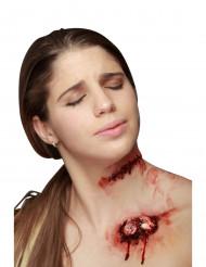 Corte falso com pontos de sutura