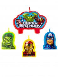 4 Velas de aniversário Avengers™
