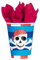 8 copos de cartão sorriso de pirata