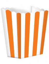 5 Caixas para pipocas cor de laranja