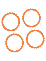 20 Adesivos cor de laranja