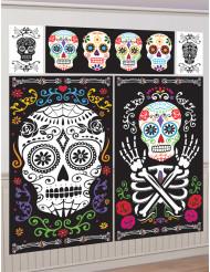 5 Decorações de parede Dia de los muertos
