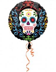 Balão de alumínio Dia de los muertos
