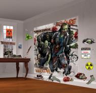 Kit de decoração para parede Zombies