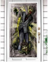 Decoração de porta zombie