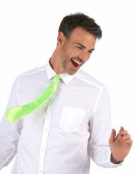 Gravata verde fluorescente - adulto