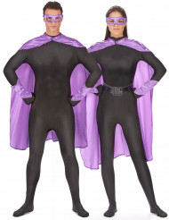 Kit super-herói lilás adulto