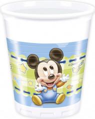 8 copos Bébé Mickey™