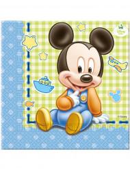 20 guardanapos de papel Bébé Mickey™