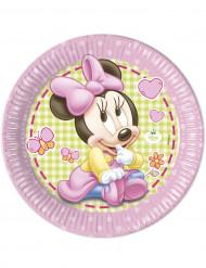 8 Pratos grandes bébé Minnie™ 23 cm