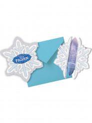 6 Convites Frozen™ com envelopes