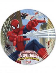 8 Pratos de cartão Spiderman™ 23 cm