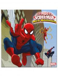 20 Guardanapos de papel Spiderman™ 33 cm
