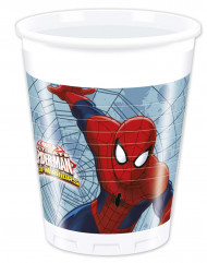 8 Copos de plástico Spiderman™ 200 ml