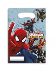 6 sacos-prenda Spiderman™ 16.5 x 23 cm