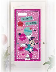 Decoração para porta cor-de-rosa Minnie™ 76 x 152 cm
