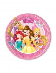 8 pratos de cartão Princesas Disney™ 20 cm