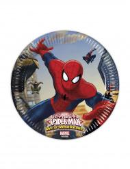 8 Pratos de cartão Spiderman™ 20 cm