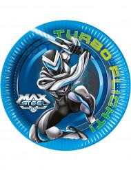 8 Pratos Max Steel™ 23 cm
