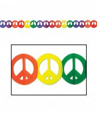 Grinalda colorida de papel Hippie Peace