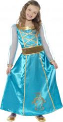 Disfarce princesa medieval azul menina