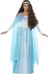 Fato princesa medieval azul mulher