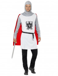 Disfarce cavaleiro branco homem