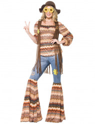 Disfarce de hippie cool mulher