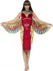 Disfarce vermelho de dinvindade Egipcia para mulher