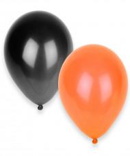 100 balões larnja e preto Halloween
