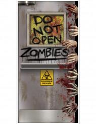 Decoração de porta Laboratório Zombie Halloween