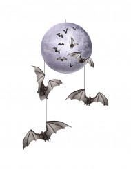 Decoração para pendurar lua e morcegos Halloween