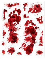 15 Autocolantes pegadas sangrentas Halloween