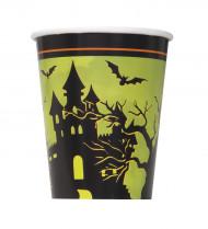 8 Copos de cartão Noite de Halloween