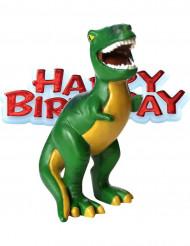 Figurino aniversário pequenos dinossauros 4 x 8 cm
