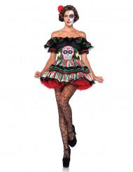 Disfarce Dia de los muertos mulher Halloween