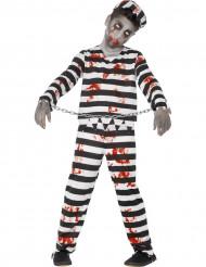 Disfarce zombie prisioneiro criança