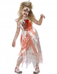 Disfarce zumbi princesa menina Halloween