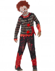 Disfarce zumbi palhaço menino Halloween