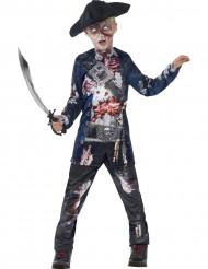Disfarce pirata zumbi menino Halloween